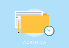 Work flow concept flat icon Stock Images