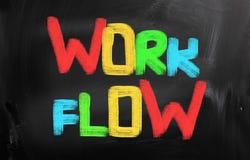Work Flow Concept Stock Image
