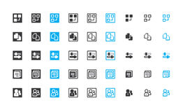 Work-flow Management Icon Set Stock Images