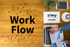 Work Flow, Working Work  Step Planning ,Process System Royalty Free Stock Photos