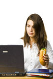 Work and food Stock Photography