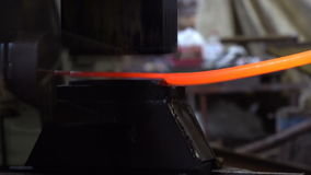 Work on forging hammer. stock footage