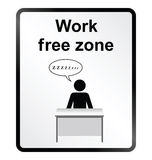 Work Free Zone Information Sign Stock Images