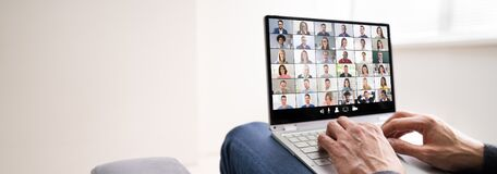Free Work From Home Video Conference Call Stock Image - 189290151