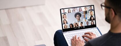 Free Work From Home Video Conference Call Stock Image - 189290191