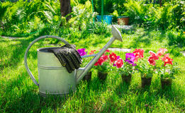 Work in the garden. Rest for the soul Royalty Free Stock Photography