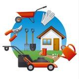 Work garden tools stock illustration