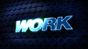 Work Glitz Sparkle Text stock video