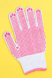 Work glove with white pimple Royalty Free Stock Photos