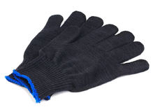 Work gloves black Royalty Free Stock Photography