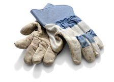 Work Gloves Blue Royalty Free Stock Photos