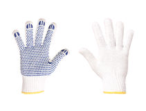 Work gloves blue and white Royalty Free Stock Photography