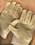 Work gloves on canvas background Stock Image