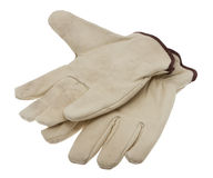 Work gloves cutouts Royalty Free Stock Images