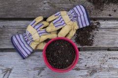 Work Gloves and Garden Pot - 5816 Stock Photos