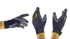 Work gloves. Isolated on white background royalty free stock images