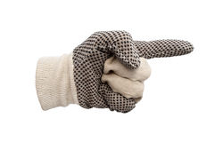 Work gloves isolated Royalty Free Stock Photos