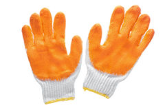Work gloves isolated on white with clipping path. Stock Photos