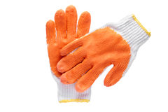Work gloves isolated on white  with clipping path. Royalty Free Stock Photos