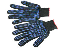 Work gloves isolated Stock Image