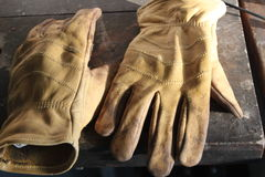 After work gloves Stock Photo
