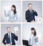 Work in good company is a pleasure Royalty Free Stock Photography
