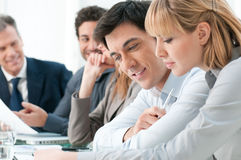 Work in group stock photo