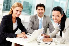 Work in group Royalty Free Stock Images