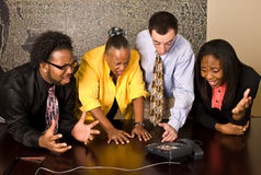 Work group on a conference call Royalty Free Stock Photography