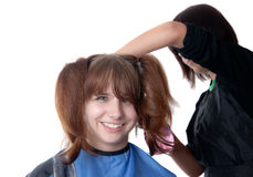 Work of the hairdresser Stock Photo