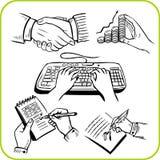 Work hands. Vector set. Stock Photos