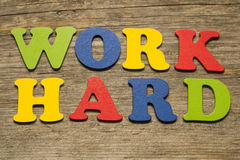 Work Hard concept Royalty Free Stock Images