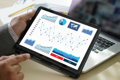 Work hard Data Analytics Statistics Information Business Technolog royalty free stock photography