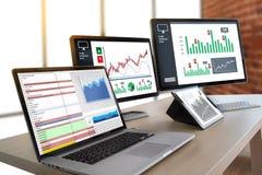 Work hard Data Analytics Statistics Information Business Technology royalty free stock images