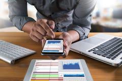 work hard Data Analytics Statistics Information Business Technol Royalty Free Stock Photos