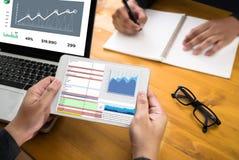 Work hard Data Analytics Statistics Information Business Technology stock image