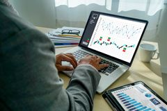 Work hard Data Analytics Statistics Information Business Technology. E stock photography