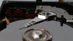 Work hard disk stock video footage
