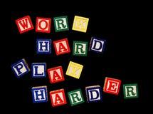 Work hard play harder Royalty Free Stock Photography