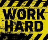 Work Hard sign Stock Photos