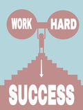 Work hard = succes Stock Images