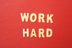 Work Hard Text Royalty Free Stock Photos