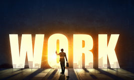 Work hard to achieve your goals Royalty Free Stock Image