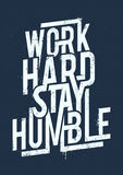 Work Hard Typography Royalty Free Stock Photo