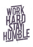 Work Hard Typography Stock Images