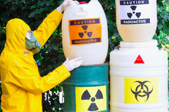 Work with hazardous materials Royalty Free Stock Photography