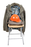 Work helmet and clothes Stock Images