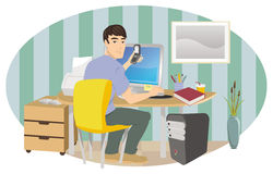 Work from home Royalty Free Stock Photography