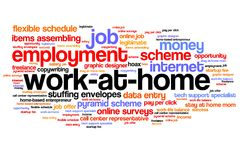 Work at home royalty free illustration