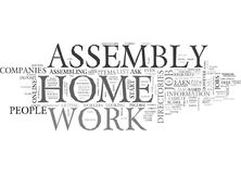 Work At Home Assembly Word Cloud Royalty Free Stock Image